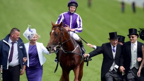 Jockey Joseph O'Brien with racehorse Australia