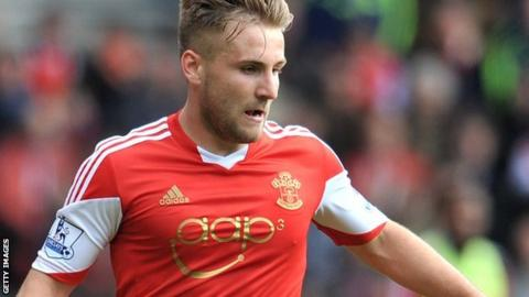 Southampton and England full-back Luke Shaw in action for Saints