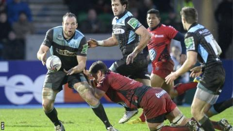 Glasgow Warriors in action against Toulon last season at Scotstoun