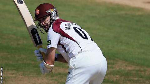 James Middlebrook scores runs for Northants