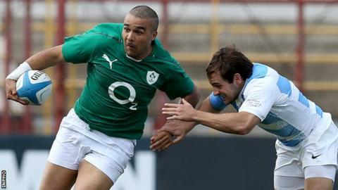 Simon Zebo helped Ireland achieve their first ever Test victory in Argentina