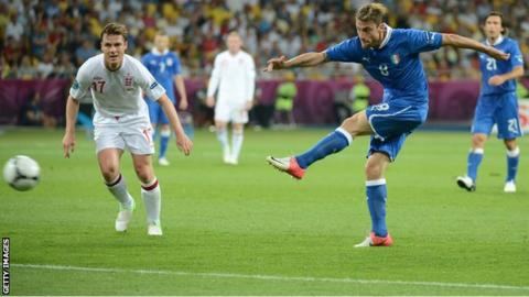 Italy's Claudio Marchisio in action against England at Euro 2012
