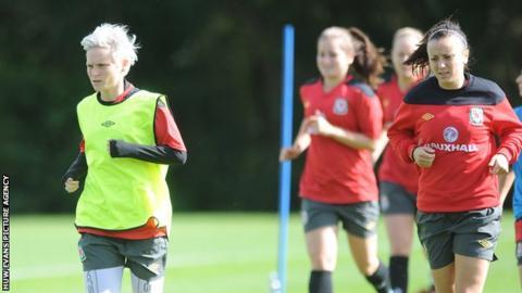 Wales Women in training