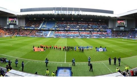 Ibrox Stadium hosts the Scottish Cup semi-final between Dundee United and Rangers