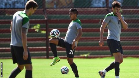 Massimo Luongo training with Australia