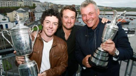 Rory McIlroy, Graeme McDowell and Darren Clarke