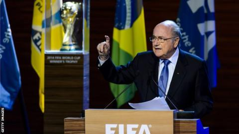 Fifa president Sepp Blatter at the congress in Sao Paolo