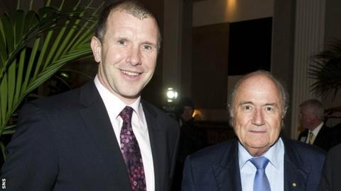 Stewart Regan and Sepp Blatter