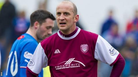 Paul Sheerin during his spell as Arbroath player-manager