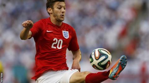 Adam Lallana, England midfielder