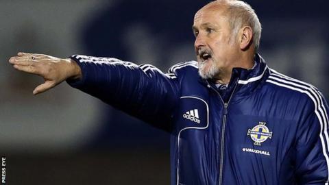 Northern Ireland boss Alfie Wylie is a former Glenavon manager