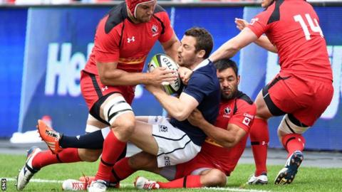 Scotland captain Greig Laidlaw in action against Canada