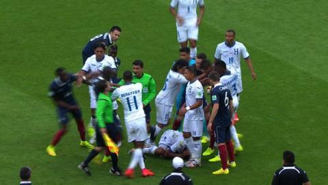 World Cup 2014: Paul Pogba & Wilson Palacios avoid red cards
