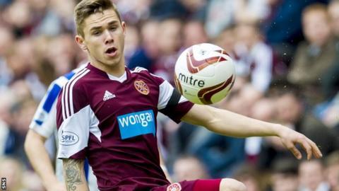 Hearts midfielder Sam Nicholson