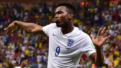 England striker Daniel Sturridge
