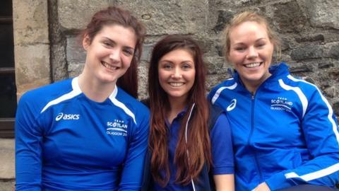 Scottish Thistles Gemma Sole, Samantha Murphy and Fiona Moore-McGrath
