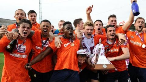 Luton Town beat Forest Green 4-1 on 21 April to secure their Football League return