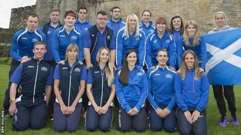 Scottish athletes at Stirling Castle