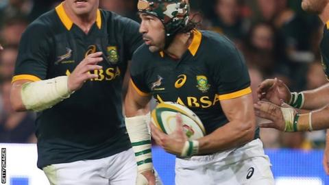 Victor Matfield will become the most-capped Test player in the history of South African rugby.