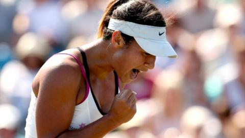Heather Watson beats Flavia Pennetta at Eastbourne