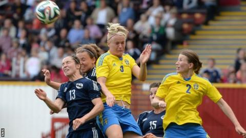 Scotland lost to Sweden in World Cup qualifying