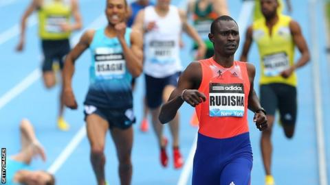 David Rudisha won on his return to the Diamond League in New York this month