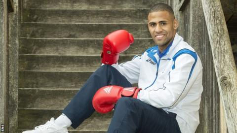 Lewis Benson will fight at welterweight for Scotland at the Glasgow Commonwealth Games