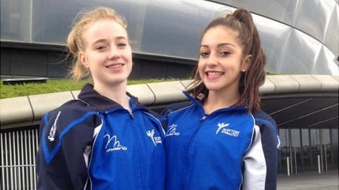 Scotland artistic gymnasts Cara Kennedy and Carly Smith