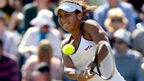 Heather Watson's Eastbourne is over for another year