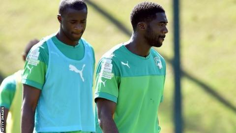 Ivory Coast: Yaya Toure and Kolo Toure