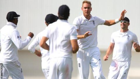 England seamer Stuart Broad celebrates against Sri Lanka at Headingley