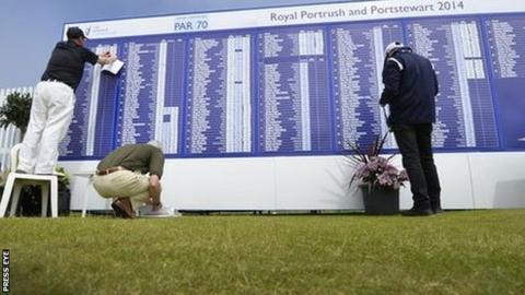 Royal Portrush scoreboard