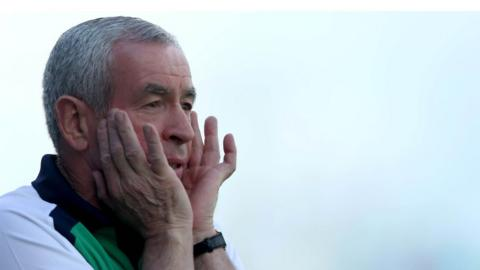 Fermanagh manager Pete McGrath saw his side exit the Championship at Portlaoise
