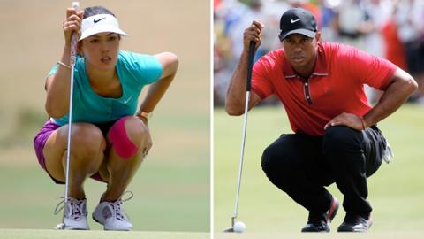 Michelle Wie and Tiger Woods split