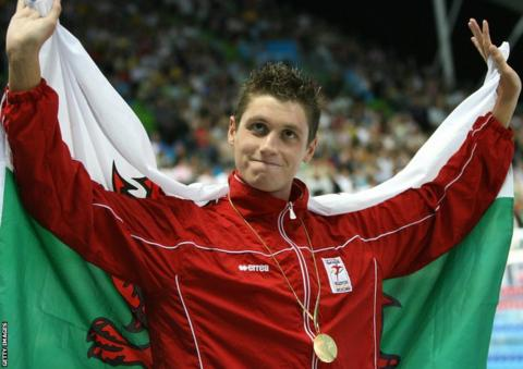 Melbourne 2006: David Davies won 1500m gold in the swimming pool.