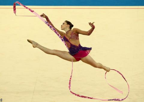 Delhi 2010: Frankie Jones claimed gymnastic silver for Wales in the hoop final.