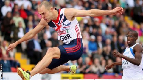 Greene finished second in the 400m hurdles at Gateshead 2013.