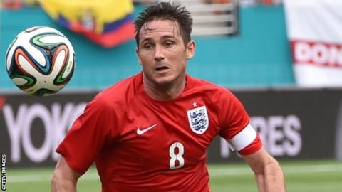 Frank Lampard in England action against Ecuador in Miami