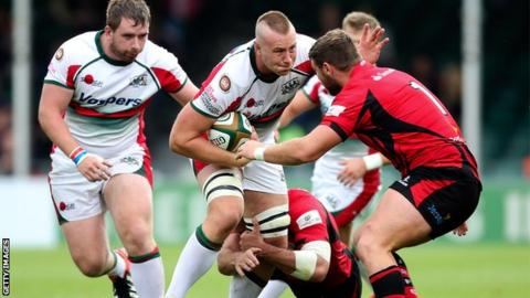 Plymouth Albion beat Jersey in their extra game at Exeter's Sandy Park last year