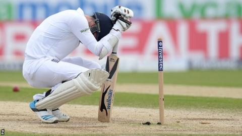 James Anderson after England lose off the penultimate ball