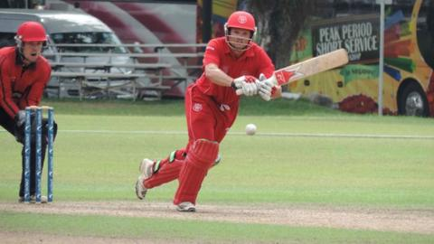 Denmark batting against Jersey