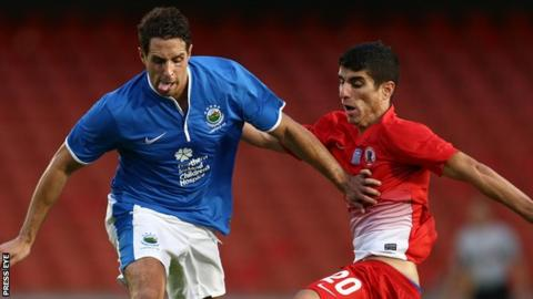 Linfield played FC Xanthi in the 2013-14 Europa League