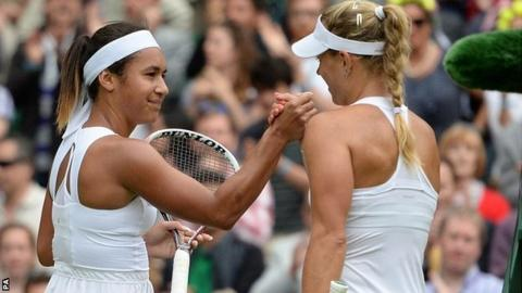 Heather Watson and Angelique Kerber