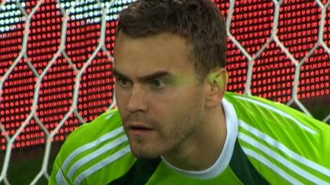 Laser shone in Igor Akinfeev's face before Algeria goal