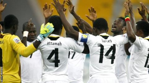 The Ghana players