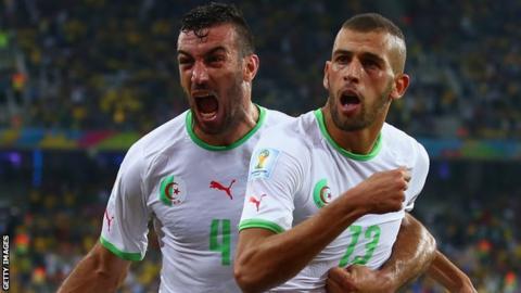 Algeria celebrate