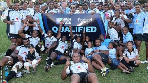 Fiji qualify for the 2015 Rugby World Cup