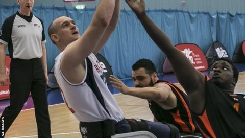 GB wheelchair basketball player Ian Sagar