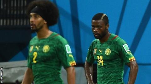Cameroon's Benoit Assou-Ekotto and Aurelien Chedjou