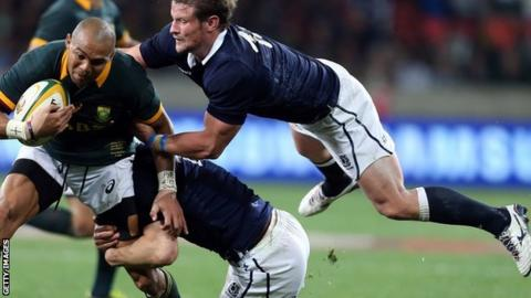 The Scots struggle to get to grips with South Africa in Port Elizabeth
